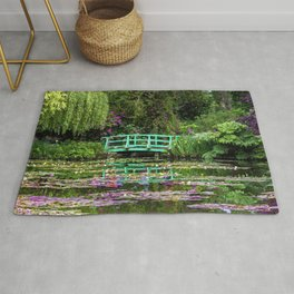 Water Lily Pond Japanese Bridge After Monet Rug