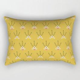 Geraldton Wax and Billy Buttons Rectangular Pillow