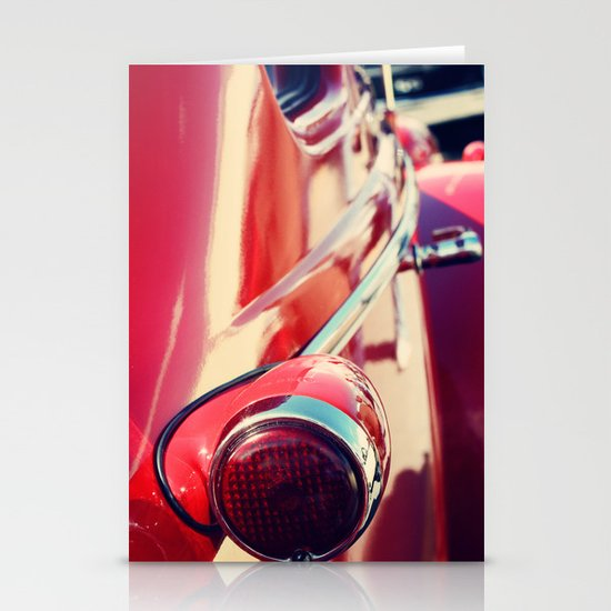 Red Car Stationery Cards
