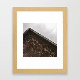 Camouflage - Red Leaves on Barn Framed Art Print
