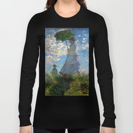 Woman with a Parasol - Madame Monet and Her Son Long Sleeve T-shirt