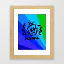 International Day of HAPPINESS Framed Art Print