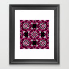Squiggle pink Framed Art Print