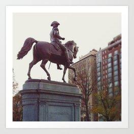 Washington in Boston Common Art Print