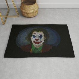 Joker Movie Portrait Joker Comic Book Art Style Joker Portrait of His Face Rug