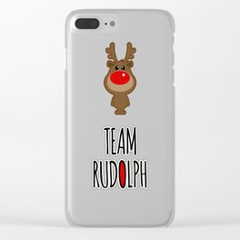 Team Rudolph Clear iPhone Case