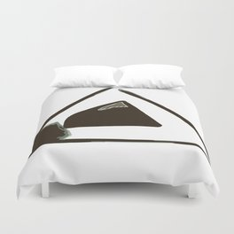 Geometric shape,abstract background Duvet Cover