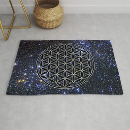 Flower of life in the space Rug