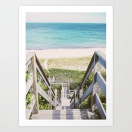 Nantucket Steps to Beach  Art Print