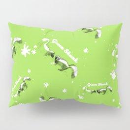 Green Skunk Pattern (c) 2017 Pillow Sham