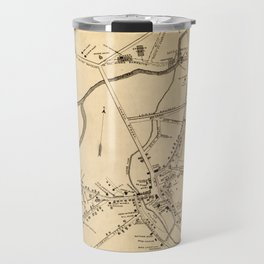 Vintage Battle of Concord Map (1875) Travel Mug