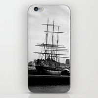 pirate ship iPhone & iPod Skins featuring Pirate Ship by Madeline Bailey