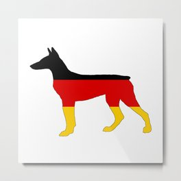 German Flag - Dobermann Pinscher Metal Print