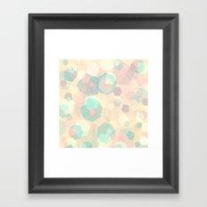 Pastel Geometric Pattern No 1  Framed Art Print