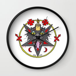 CANDLE CAT COLOR Wall Clock