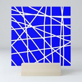 Doodle (White & Blue) Mini Art Print