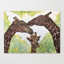 Giraffe Love by Maureen Donovan Canvas Print