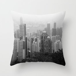 Hong Kong Island Throw Pillow