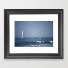 Sailing the Pacific Framed Art Print