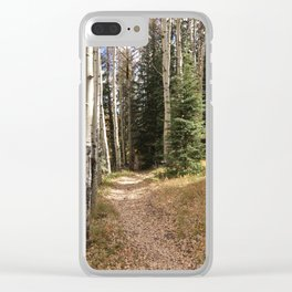 Autumn's Ending Clear iPhone Case
