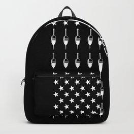 Fisher Fishing Patriotic American Flag Backpack