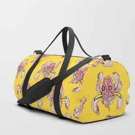 T.F TRAN YELLOW NEON BUTTERFLY IRIS Duffle Bag