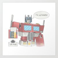 Optimistic Prime Art Print