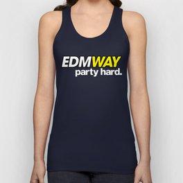 EDMWAY Party hard (White) Unisex Tank Top