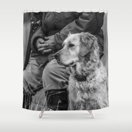 Ready and Waiting Shower Curtain