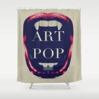 artpop Shower Curtains featuring ARTPOP 2013 by Haus Of Brandon