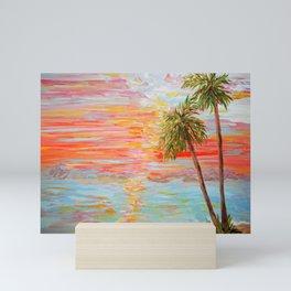 California Coast Sunset Mini Art Print