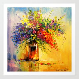 A bouquet of wild flowers Art Print