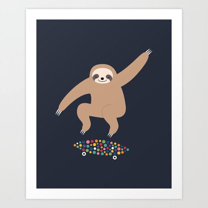 Sloth Gravity Art Print