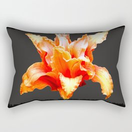 Deformed Orange Lily Rectangular Pillow