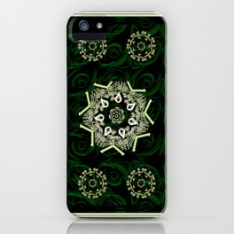 Celtic Pattern on Velvet Background iPhone Case