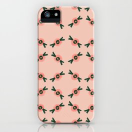 Coral gum nut pattern iPhone Case