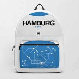 Hamburg Blue Subway Map Backpack