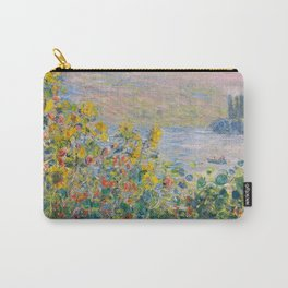 1881-Claude Monet-Flower Beds at Vétheuil-73 x 92 Carry-All Pouch