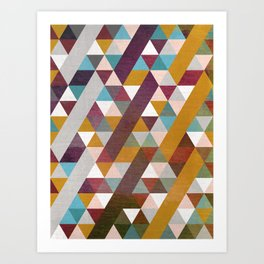 Triangles Circus Art Print