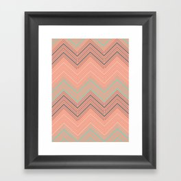 Soft Chevron Framed Art Print