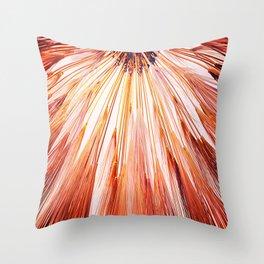 Wheat Sunburst Blood Orange Throw Pillow