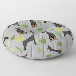 Doberman Pinscher cactus desert southwest gifts for dog lover pet owner must haves pet friendly Floor Pillow
