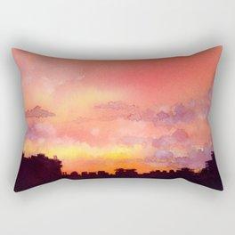 Minsk sunset skyline in watercolours Rectangular Pillow