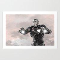 ironman Art Prints featuring ironman by Ryan Chan