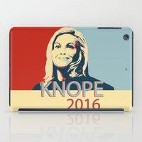 leslie knope iPad Cases featuring KNOPE 2016 by studiomarshallarts