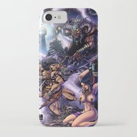 conan iPhone & iPod Cases featuring Conan by MonsterBox