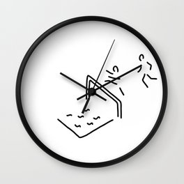 obstacle course athletics hurdle run Wall Clock