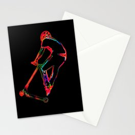 High-flying Scootering - Scooter Boy Stationery Cards