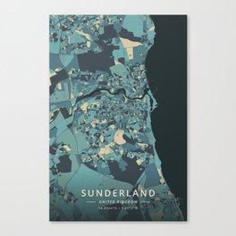 Sunderland, United Kingdom - Cream Blue Canvas Print