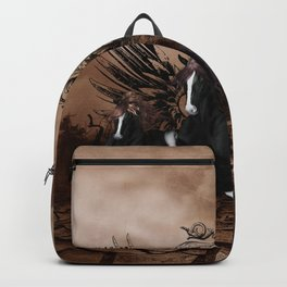 Awesome wild horses Backpack